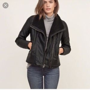 NWT Abercrombie & Fitch Sherpa Leather Jacket